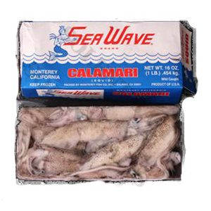 1lb Box of Calamari Squid from Solent Baits